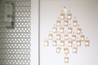 Advent Calendar mini-envelope tree